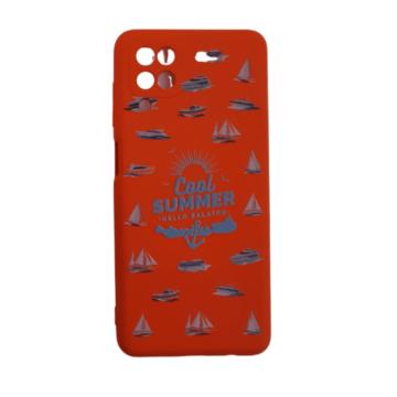 Cellect piros, hajó mintás TPU Szilikon Tok, Samsung Galaxy A72 SM-A726B