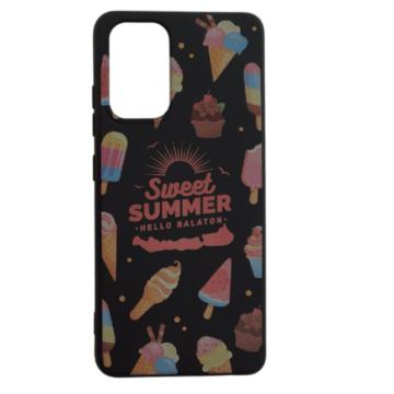 Cellect fekete, fagyi mintás TPU Szilikon Tok, Samsung Galaxy A72 SM-A726B