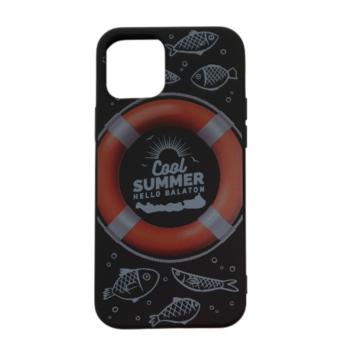 Cellect fekete, mentőöv TPU Szilikon Tok, Apple iPhone 12/12 Pro