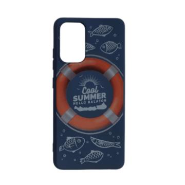 Cellect kék, mentőöv mintás TPU Szilikon Tok, Samsung Galaxy A52 SM-A526B