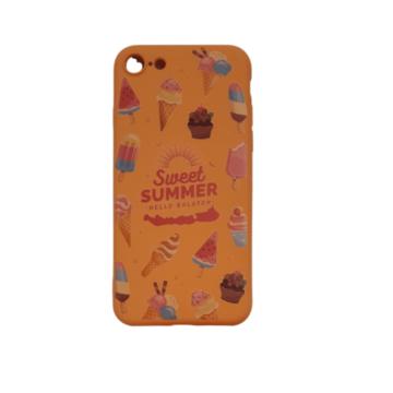 Cellect narancs, fagyi mintás TPU Szilikon Tok, Apple iPhone 7/8/SE 2020
