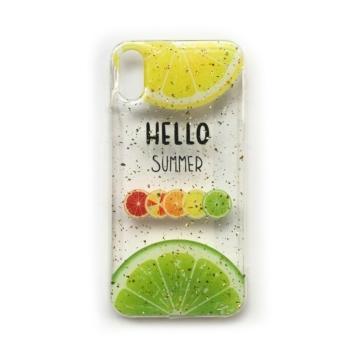 Cellect Áttetsző Hello Summer Mintás PC (műanyag) tok, iPhone X/Xs