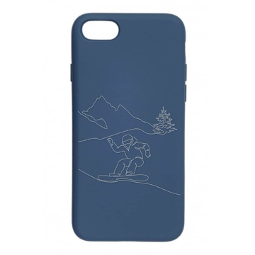 Cellect Kék Snowboard mintás TPU Szilikon Tok, Apple iPhone 7/8/SE 2020