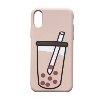 Cellect Pink  Bubble Tea Mintás TPU Szilikon Tok Apple iPhone 7/8/SE 2020