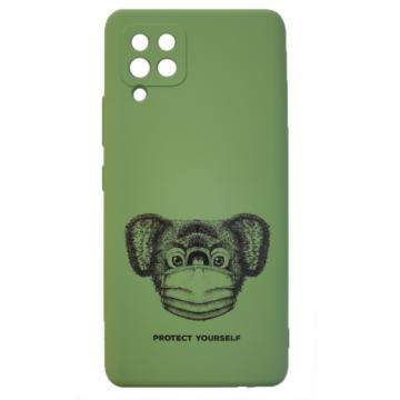 Cellect zöld maszkos koala mintájú TPU szilikon tok, Samsung Galaxy A42 SM-A426B