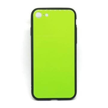 Cellect Zöld Edzett Üveg hátlapú TPU szilikon tok Apple iPhone X/Xs