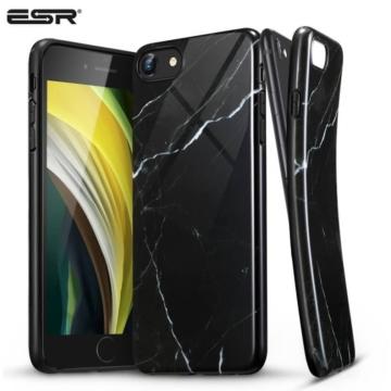 ESR Marble márvány mintájú TPU szilikon tok - fekete Apple iPhone 7/8/SE 2020