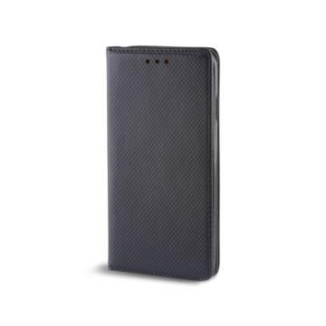 Hempi, fekete oldalra nyíló mágneses műbőr flip tok - Samsung Galaxy A71, SM-A715F
