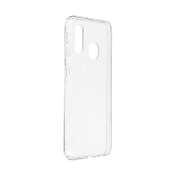 Wanda Ultra vékony Áttetsző Csillámos szilikon TPU tok, Samsung Galaxy A20e SM-A202F