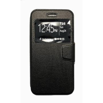 Fekete oldalra nyíló flip tok Apple iPhone X/Xs