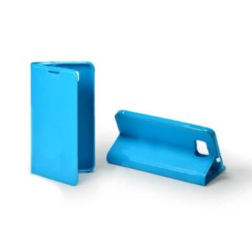 Hempi műbőr kék oldalra nyíló mágneses flip tok, Samsung Galaxy A7 SM-A700F