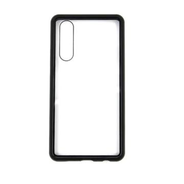 Hempi Mágneses Tok Edzett Üveg Hátlappal, Fekete Alumínium Kerettel, iPhone X/Xs