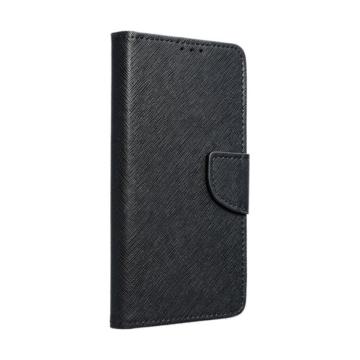 Hempi műbőr fekete oldalra nyíló mágneses flip tok, Huawei Honor 8S