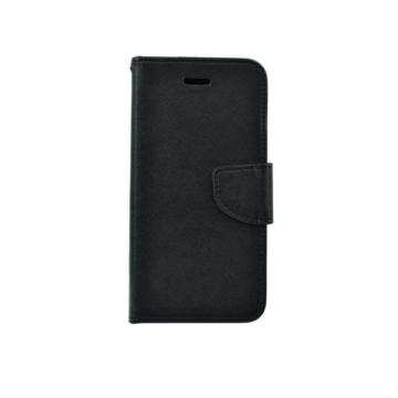 Hempi műbőr fekete oldalra nyíló mágneses flip tok, Huawei P20 Lite