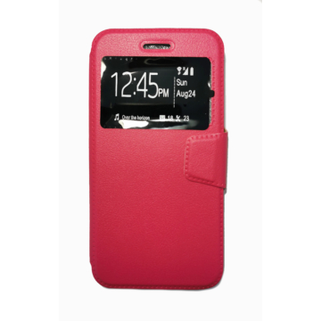 Rózsaszín oldalra nyíló flip tok Apple iPhone X/Xs