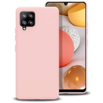 Hempi Púder rózsaszín Ütésálló TPU szilikon tok Samsung Galaxy A12 SM-A125F