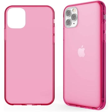 Neon Pink Áttetsző TPU szilikon tok Apple iPhone Xr