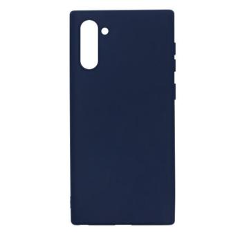 Samsung utángyártott Sötétkék Szilikon hátlapi TPU tok, Samsung Galaxy Note 10 Plus SM-N975