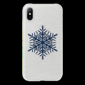 Áttetsző hópehely mintás karácsonyi TPU szilikon tok Apple iPhone X
