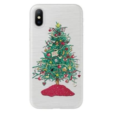 Áttetsző karácsonyfa mintás karácsonyi TPU szilikon tok Apple iPhone 7/8/SE 2020