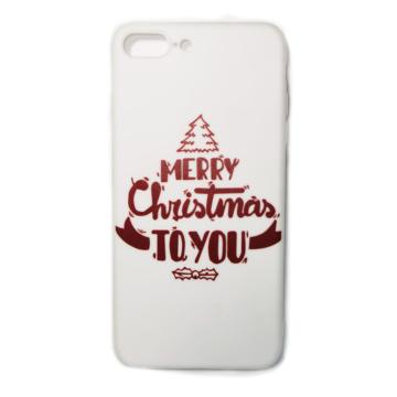 Fehér Merry Christmas to you karácsonyi mintás TPU szilikon tok Apple iPhone 7/8/SE 2020