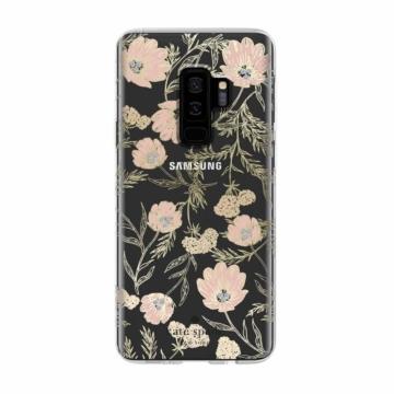 Kate Spade New York átlátszó kemény (TPU) szilikon tok  -  arany virágok , Samsung Galaxy S9 Plus SM-G965