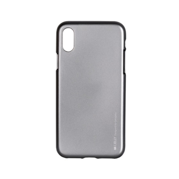 Goospery iJelly Metal Ezüst Szilikon TPU tok, iPhone Xr