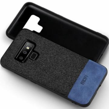 Mofi Fabric Szürke/Kék TPU szilikon tok textil borítással, Huawei P20 Lite