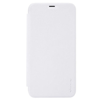 Nillkin Sparkle Oldalra nyíló Flip Fehér Bőr tok, műanyag (PC) tartóval, iPhone 7 Plus/8 Plus