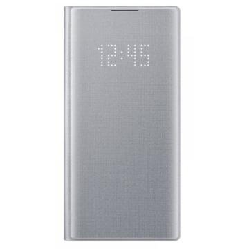 Samsung Smart Led View Cover tok ledes fedéllel - ezüst, Samsung Galaxy Note 10 SM-N971