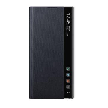 Samsung Clear View Gyári flip tok áttetsző fedéllel - fekete, Samsung Galaxy Note 10 SM-N971