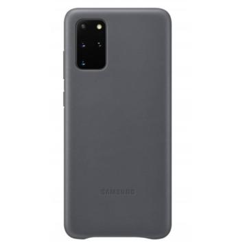 Samsung Gyári Szürke PC műanyag tok bőr borítással Samsung Galaxy S20 Plus SM-G985