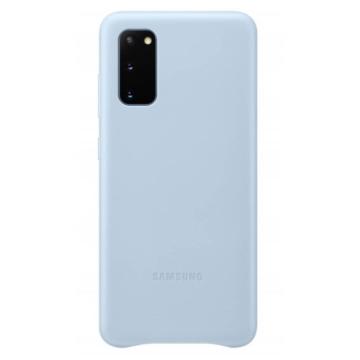 Samsung Gyári Kék PC műanyag tok bőr borítással Samsung Galaxy S20  SM-G980