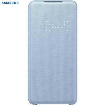 Samsung Smart Led View Cover tok ledes fedéllel - kék, Samsung Galaxy S20, SM-G980