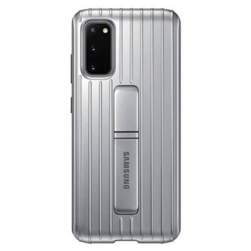 Samsung Gyári Protective Standing Cover Fém színű PC műanyag + TPU szilikon tok Samsung Galaxy S20  SM-G980