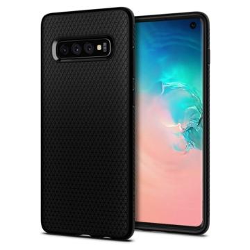 Spigen Liquid Air Fekete TPU Szilikon Tok Samsung Galaxy A6 Plus (2018) SM-A605F