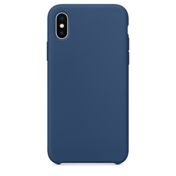 Apple Utángyártott Kobalt Kék Szilikon hátlapi TPU tok, iPhone X/Xs