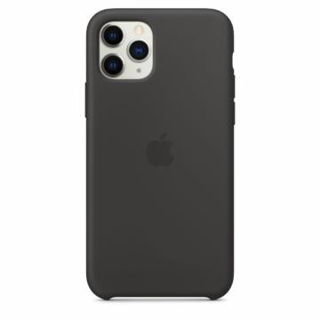 Apple Fekete Gyári Szilikon hátlapi TPU tok, iPhone Xs MAX
