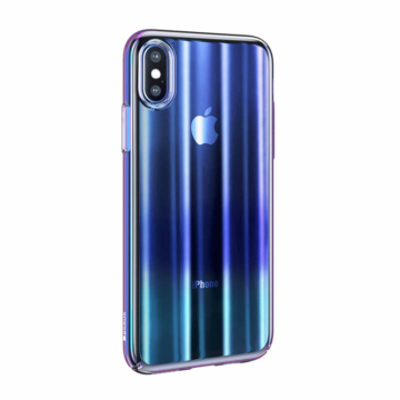 Baseus Aurora Case Kék Ombre Irizáló PC (műanyag) tok, iPhone Xs MAX