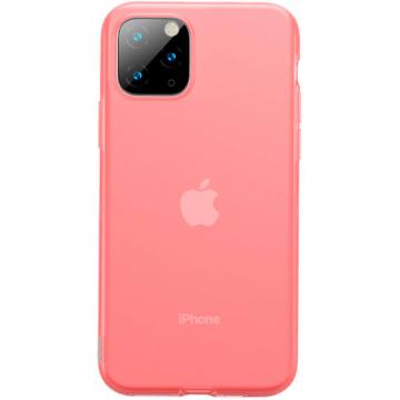 Baseus Jelly Liquid silica gel protective piros ütésálló TPU tok, iPhone 11
