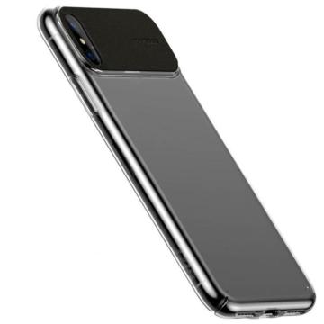 Baseus Fekete PC (műanyag) Tok Bőr Betéttel iPhone Xr