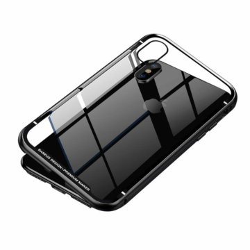 Baseus Magnetite Hardware Mágneses Fekete Alumínium tok iPhone X/Xs
