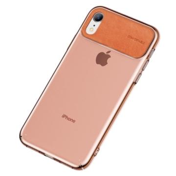 Baseus Narancssárga PC (műanyag) Tok Bőr Betéttel iPhone Xr