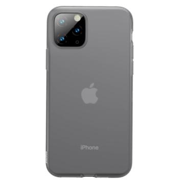 Baseus Jelly Liquid silica gel protective fekete ütésálló TPU tok, iPhone 11