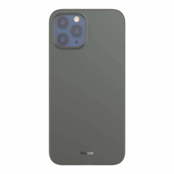 Baseus Wing Ultra Vékony Áttetsző Fekete PP (műanyag) tok, iPhone 12 Pro Max