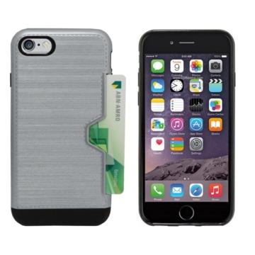 Colorfone szürke ütésálló kártyatartó műanyag+ szilikon tok, Apple iPhone 7/8/SE 2020
