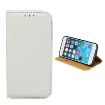 Colorfone műbőr fehér oldalra nyíló mágneses flip tok, iPhone 7/8/SE 2020