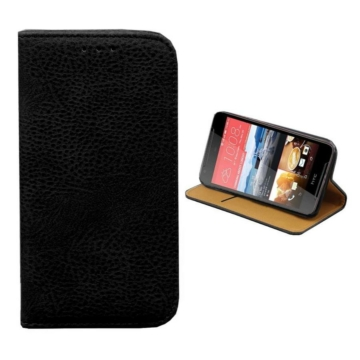 Colorfone műbőr fekete oldalra nyíló mágneses flip tok, iPhone 7 Plus/8 Plus