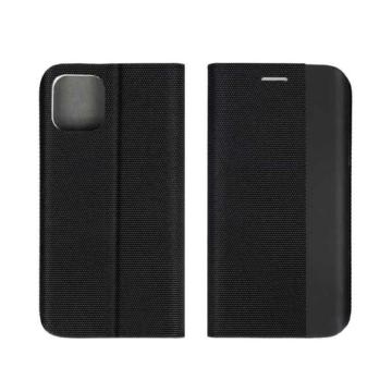 Forcell, Sensitive fekete oldalra nyíló flip tok Samsung Galaxy A72 SM-A726B