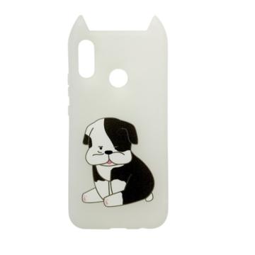 Hana Pop Jelly Fehér Kutyusos TPU szilikon tok, Apple iPhone X/Xs